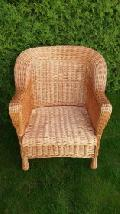 Fotel wiklinowy - pe³ny. 75x74x45/87, siedzisko 44x44