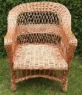 Fotel wiklinowy - ³ezka, malowany. 64 x 55 wys. 42/90