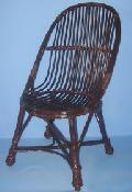 Fotel z wikliny - ³ezka, malowany-palisander 53x60, wys 41/95, siedzisko przód 42 , g³êboko¶æ 45