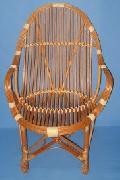 Fotel wiklinowy - Student. 58 x 66 wys. do siedziska 42, do oparcia 63,  wys. ca³kowita 88 ,  ¶rednica siedziska  44.