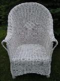 Fotel wiklinowy - papieski, malowany. 70 x 70 wys. 39/67/105, siedzisko 50x48