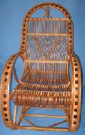 Fotel bujany wiklinowy. 115 x 59, wys. 50/76/115, siedzisko szr 49, g��b. 45, wys oparcia 82 cm.