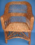 Fotel wiklinowy - wygodny. 65x62 wys. 39/65/tyl 93, siedziska 48 ty³ 44, g³êboko¶æ 49