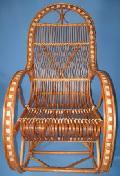 Fotel bujany wiklinowy. 115 x 59, wys. 50/76/115, siedzis szer 49, g³êb. 45, wys oparcia 82