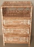 Szafka, komoda wiklinowa z szufladami 45 x 30 wys. 65, wys, nó¿ek 5 cm